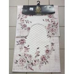 Набор ковриков в ванную комнату Decovilla (18008_101-lila_extra)