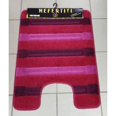Коврик с вырезом под унитаз Nefertiti (8352_burgundy_extra)