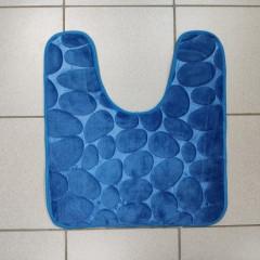 Коврик с вырезом под унитаз камни двухцветные (aquadomer_aquamarine_extra)