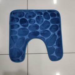Коврик с вырезом под унитаз камни двухцветные (aquadomer_blue_extra)
