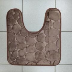Коврик с вырезом под унитаз камни двухцветные (aquadomer_chocolate_extra)