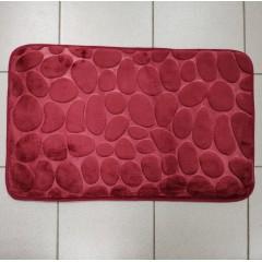 Коврик в ванную комнату камни двухцветные (aquadomer_maroon_stan)