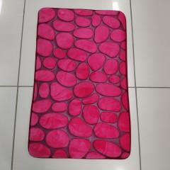 Коврик в ванную комнату камни двухцветные (aquadomer_pink_stan)