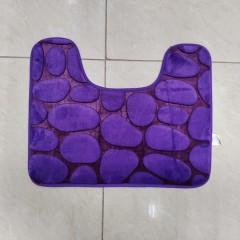 Коврик с вырезом под унитаз камни двухцветные (aquadomer_violet_extra)