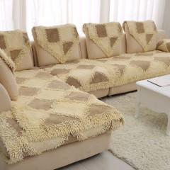 Комплект лапша диван 0.7x2.3 и 2 кресла 0.7x1.5 (темно-бежевый-коричневый)