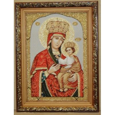 Икона гобеленовая (Черниговская икона  Божией Матери)