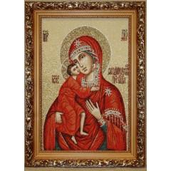 Икона гобеленовая (Феодоровская икона Божией Матери)