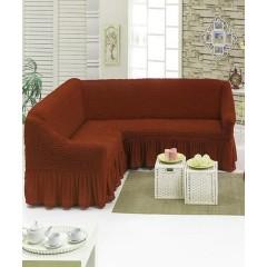Чехол на угловой диван (коричневый)