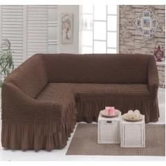 Чехол на угловой диван (шоколадный)