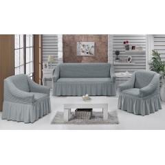 Комплект чехлы на диван и кресла (серый)