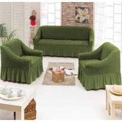 Комплект чехлы на диван и кресла (зеленый)