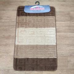 Набор ковриков в ванную комнату Силвер (slv08_brown_stan)