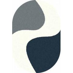 Ковер Платинум (t616_blue-navy_oval)