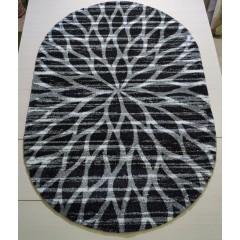 Ковер Платинум (t626_black-gray_oval)