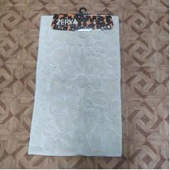 Набор ковриков в ванную комнату из хлопка (zerya_leaf-beige_extra)
